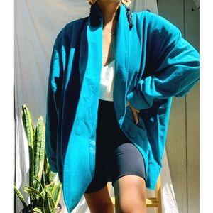 Vintage//Turquoise Oversized Coat